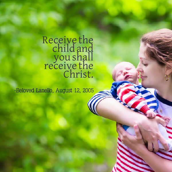 receive the child and you shall receive the christ
