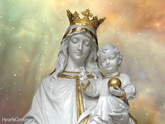 Mother Mary with Baby Jesus Statue image