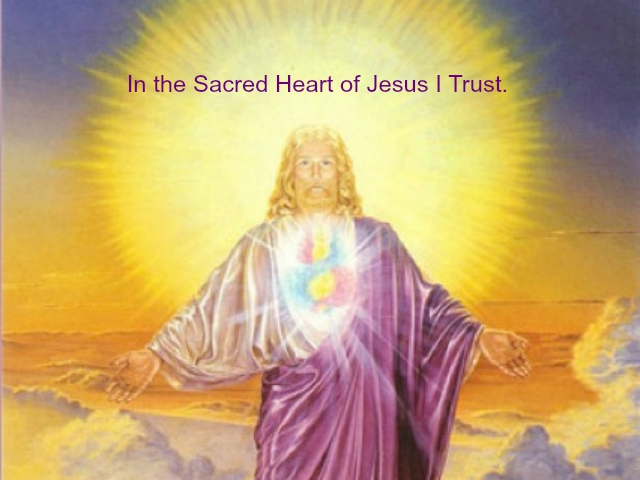 In the Sacred Heart of Jesus I Trust Poster