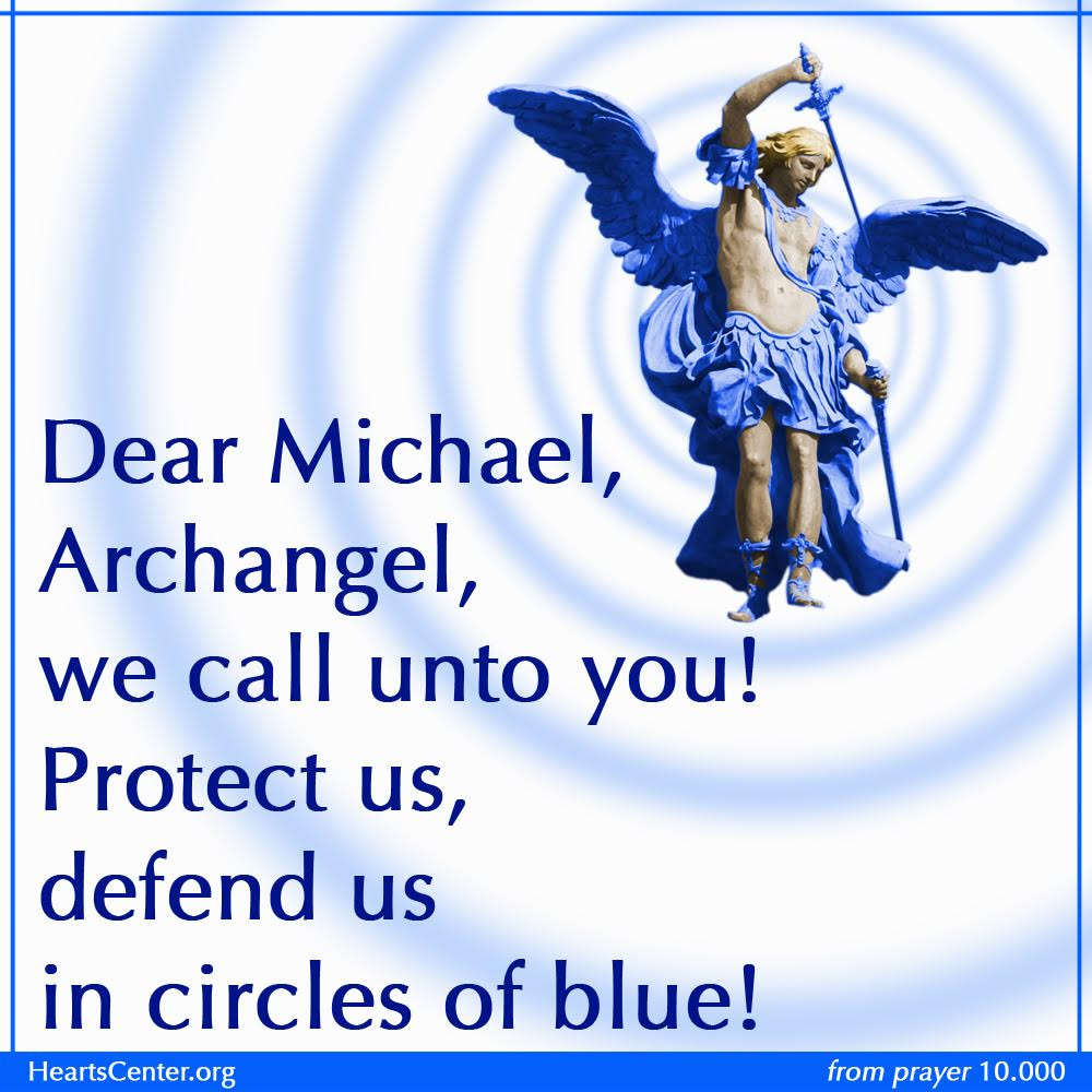 Archangel Michael Protect Us Poster - Prayer and Song Blog