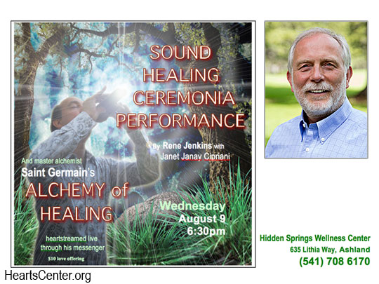 Saint Germain on the Alchemy of Healing (Ashland, Oregon evening event)