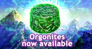 Orgonites for sale at Alchemy Exchange Bookstore