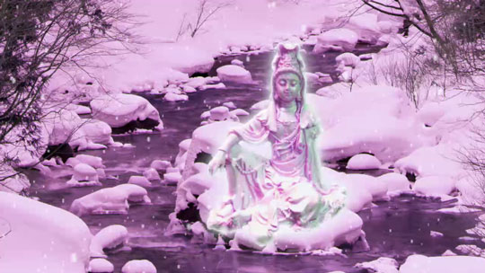 Kuan yin on ice water