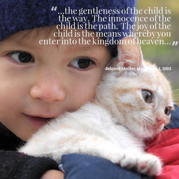 the gentleness of the child