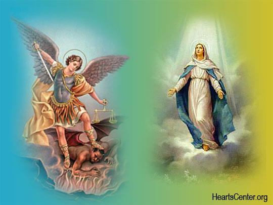 Mother Mary and Archangel Michael