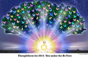 Gautama Buddha's 2014 New Year Thoughtform