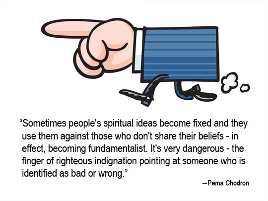 David Expounds on a Quote from Pema Chodron on Indignation