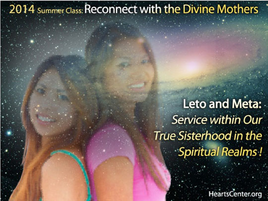 Leto and Meta: Service within Our True Sisterhood in the Spiritual Realms (discourse)