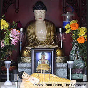 Buddha Seems to Bring Tranquility to Oakland Neighborhood (VIDEO)