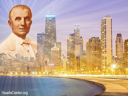 Godfre Recreates Chicago as a City of Divine Light as Angelic Choirs Sing and Stream Rays of Healing Love