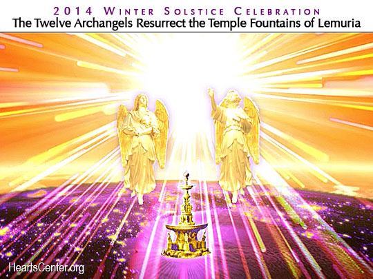Archangel Uriel and Archeia Aurora  Initiate the Fountain of Light over Cracow