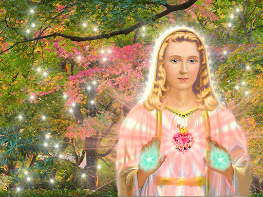 Mother Mary Takes us on a Sacred Journey  to a Venusian Garden