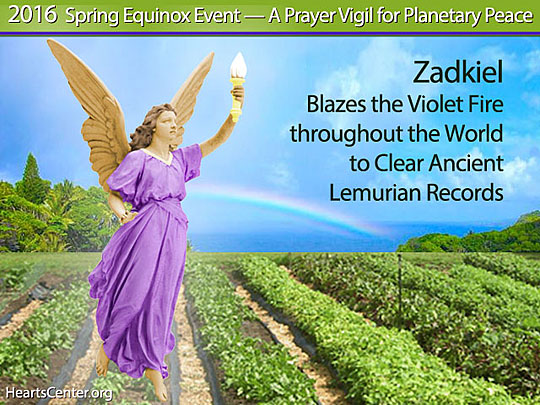 Zadkiel Blazes the Violet Fire throughout the World to Clear Ancient Lemurian Records (VIDEO)