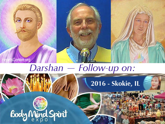 Darshan with Saint Germain and Mother Mary — Follow-up on 2016 Body, Mind and Spirit Expo, Skokie, IL (VIDEO)