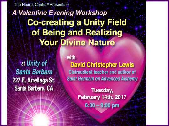 Workshop at Unity of Santa Barbara—Realize Your Divine Nature through the Unity Field of Being