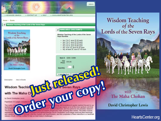 David Announces the Release of Our New Book: Wisdom Teaching of the Lords of the Seven Rays (VIDEO)