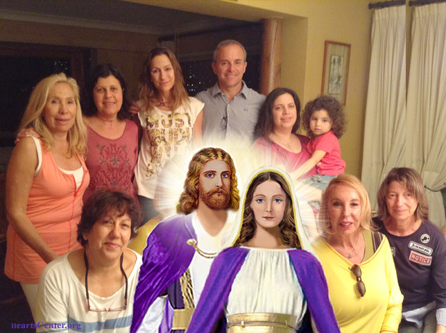 Jesus and Magda's Darshan with Chilean Heartfriends