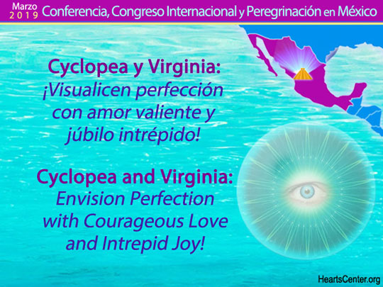 Cyclopea and Virginia: Envision Perfection with Courageous Love and Intrepid Joy! (VIDEO)