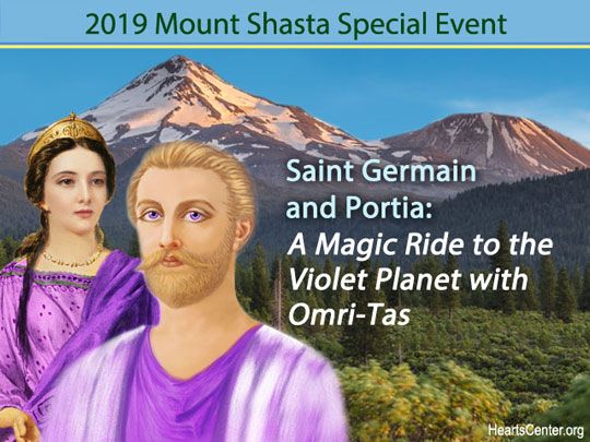 Saint Germain and Portia: A Magic Ride to the Violet Planet with Omri-Tas (VIDEO)