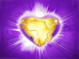 Africa in violet flame heart