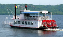 Pearl of the Lake Paddle Wheel Boat on Lake Pepin