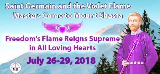 Saint Germain comes to Mt. Shasta in 2018