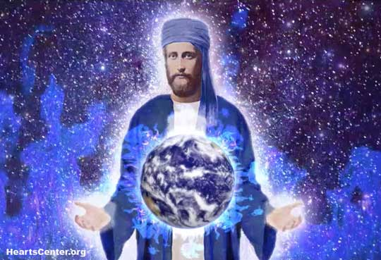 El Morya blessing the earth Darshan