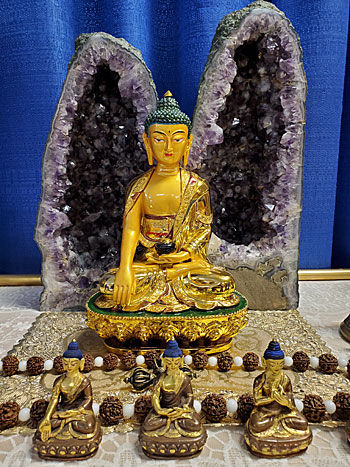 Golden Buddha Altar Statue-Gifted from a Nepalese Lama